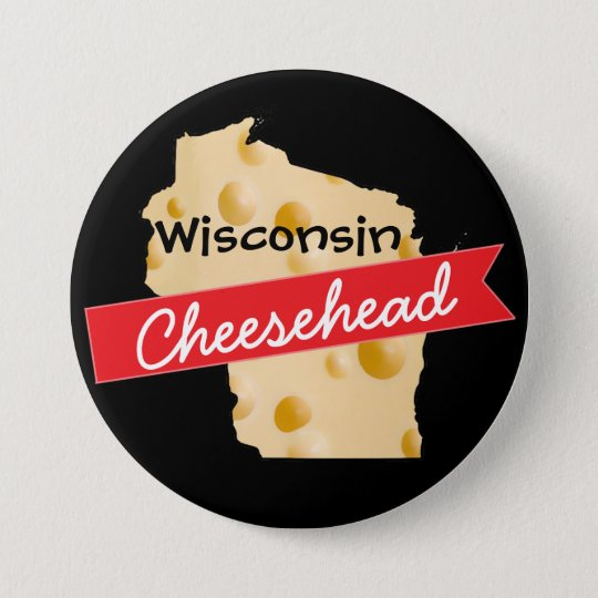 Wisconsin Cheesehead Button