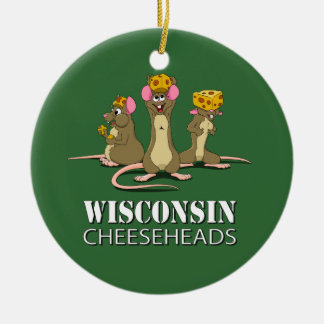 Wisconsin Cheesehead Mice Christmas Ornament