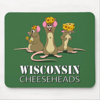 Wisconsin Cheesehead Mice Mouse Mat