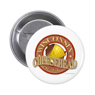 Wisconsin Cheesehead Seal 6 Cm Round Badge