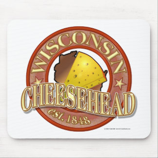 Wisconsin Cheesehead Seal Mouse Pad
