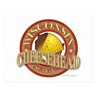Wisconsin Cheesehead Seal Postcard