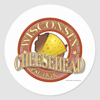 Wisconsin Cheesehead Seal Round Sticker
