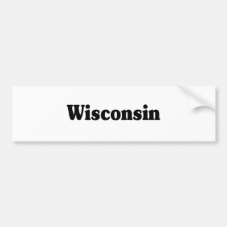 Wisconsin Classic Bumper Sticker