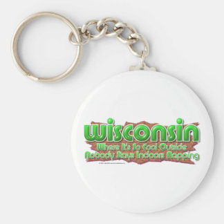 Wisconsin Cool Key Ring