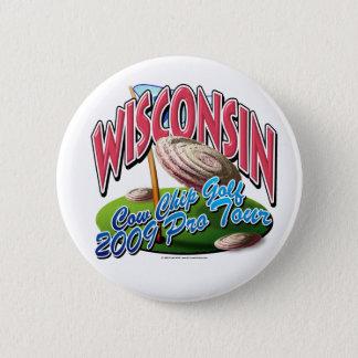 Wisconsin Cow Chip Golf 6 Cm Round Badge
