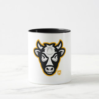 Wisconsin Cow Head Logo Coffee Mug