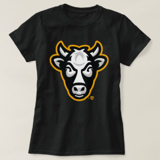 Wisconsin Cow Ladies Tee (Black)