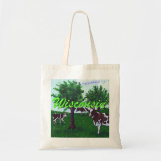Wisconsin Cows Budget Tote Bag