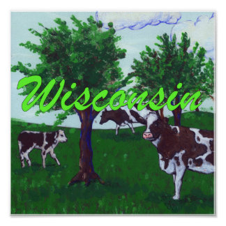 Wisconsin Cows Poster