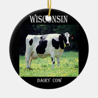 Wisconsin Dairy Cow Christmas Ornament