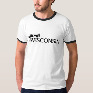 Wisconsin Dairy Cow Mens Ringer T-shirt