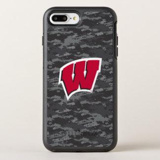 Wisconsin | Dark Digital Camo Pattern OtterBox Symmetry iPhone 8 Plus/7 Plus Case