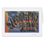 Wisconsin Dells, Wisconsin - Large Letter Scenes Greeting Card