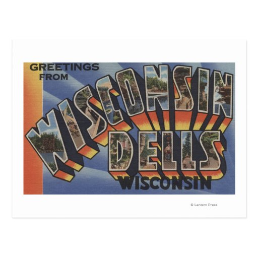 Wisconsin Dells, Wisconsin - Large Letter Scenes Postcards