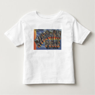 Wisconsin Dells, Wisconsin - Large Letter Scenes Shirt