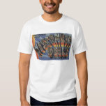 Wisconsin Dells, Wisconsin - Large Letter Scenes T Shirt