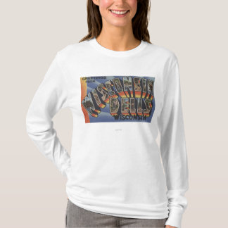 Wisconsin Dells, Wisconsin - Large Letter Scenes T-Shirt
