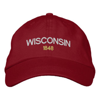 Wisconsin Emboidered Hat Embroidered Baseball Cap