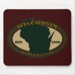 Wisconsin Est. 1848 Mousepad