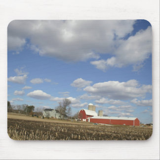 Wisconsin farm on sunny day mouse mat