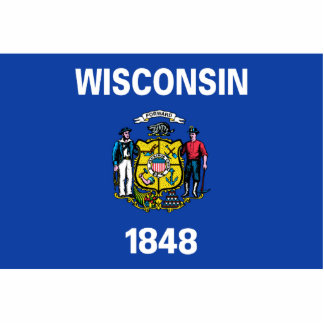 Wisconsin Flag Keychain Cut Out