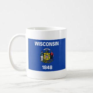 Wisconsin Flag + Map Mug