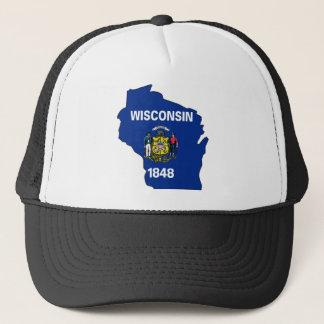 Wisconsin Flag Map Trucker Hat