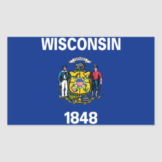 Wisconsin Flag Rectangular Sticker