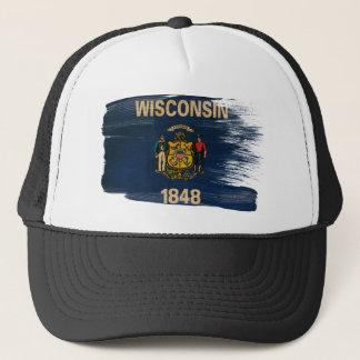 Wisconsin Flag Trucker Hat