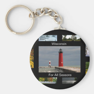 Wisconsin For All Seasons Key Ring