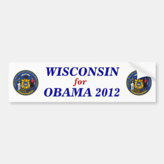 Wisconsin for Obama 2012 sticker Bumper Sticker