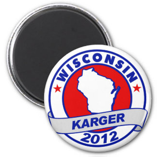 Wisconsin Fred Karger 6 Cm Round Magnet