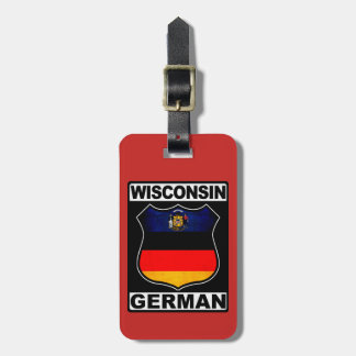 Wisconsin German American Luggage Tag Template