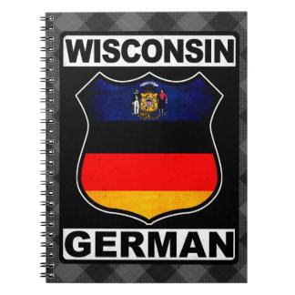 Wisconsin German American Notepad Notebooks