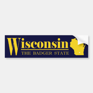Wisconsin Gold Bumper Sticker