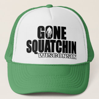 WISCONSIN Gone Squatchin - Original Bobo Trucker Hat
