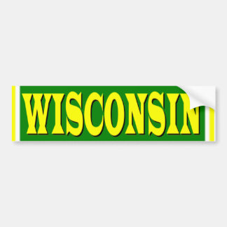 Wisconsin Green and Gold Bumper Sticker