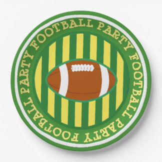 Wisconsin Greenbay Football Party Paper Plates