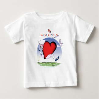 wisconsin head heart, tony fernandes baby T-Shirt