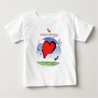 wisconsin head heart, tony fernandes baby T-Shirt