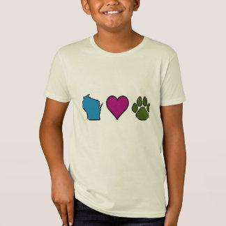 Wisconsin Hearts Animals Tee Shirts