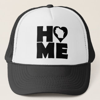 Wisconsin Home Heart State Ball Cap Trucker Hat
