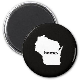 Wisconsin Home 6 Cm Round Magnet