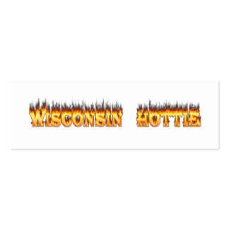 Wisconsin hottie fire and flames business card template