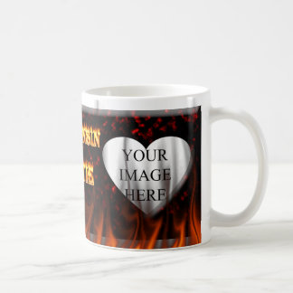 Wisconsin Hottie fire and red marble heart. Coffee Mug