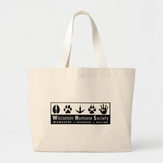 Wisconsin Humane Society Logo Large Tote Bag