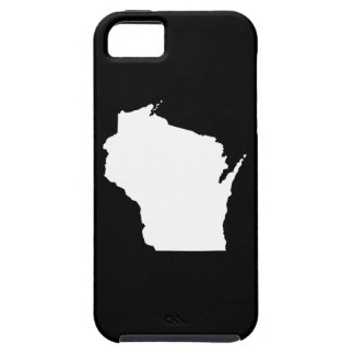 Wisconsin in White iPhone 5 Cover