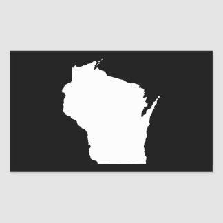 Wisconsin in White Rectangular Sticker
