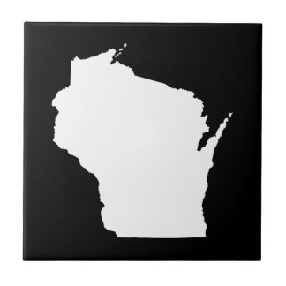 Wisconsin in White Tile
